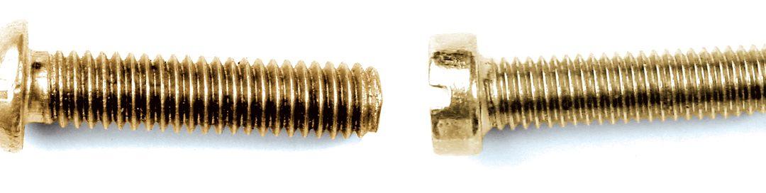 Tornillo Latón Cabeza redonda DIN 86 y Cabeza cilíndrica DIN 84